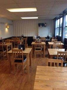 Photograph of the inside of Seventeen Bistro