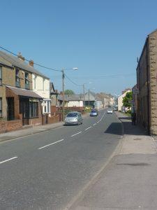 Photograph of main road through Quarrington Hill