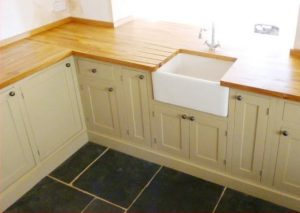 Photograph of a fitted kitchen