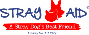 Image of Stray Aid logo, A stray dogs best friend, Charity No1117372