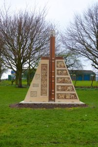 Photograph showing Quarrington Hill miners memorial