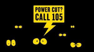 Image showing people in the dark and the words Poer Cut? Call 105