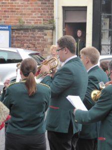 Photograph of cornet players