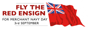 Photograph of a logo for Fly the Red ensign Day