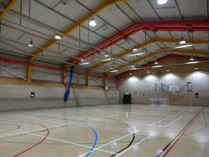 Sports hall with new light