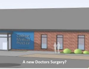 Artists view of a proposed new doctors surgery
