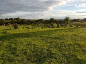 Photograph of Quarrington Hill graveyard