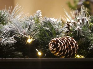 Photograph of Christmas decorations