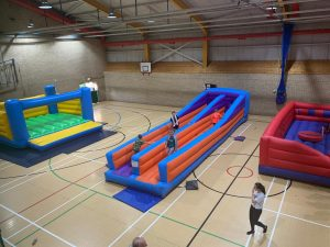 Photo of inflatables at the youth Club