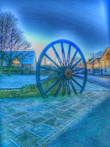 Photograph of pitwheel on a frosty day in HDR