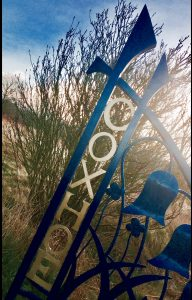 Photograph of Coxhoe entrance sign in colour