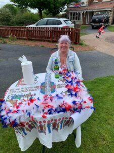 A lady enjoying celebrations