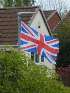 Flags in full wind
