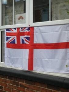 A flag in the Club window