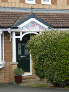 Some fine bunting on porch