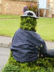 figure with helmet