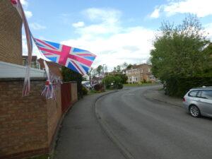 Union Flags in streetscene
