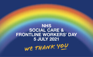 Picture of the flag for NHS Social Care and Frontline Workers Day 5 July 2021